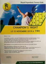 Champion's Night - 23/11/19